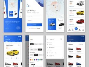 Car Rental Service App Sketch Resource
