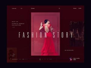 Fashion Homepage Concept Sketch Resource