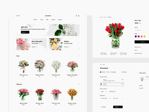 Flower Store UI Kit - Cassiopeia Sketch Resource