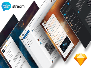 Chat UI Kit by Stream Sketch Resource