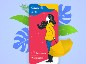 Colorful Weather Screen Presentation Sketch Resource