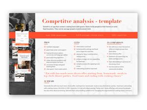 Ressources d'esquisse de modèle d'analyse concurrentielle