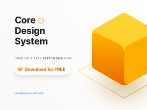 Core Design System Sample Sketch Resource