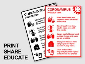 Coronavirus Flyer Public Warning Sketch Resource