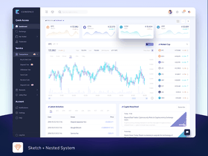 Crypto Dashboard Sketch Resource
