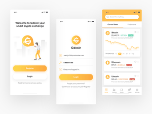 Crypto Exchange App Sketch Resource