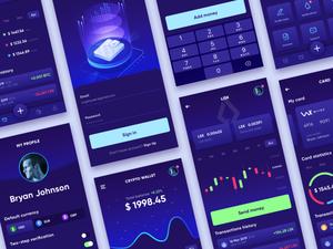 Cryptocurrency Wallet App Sketch Resource