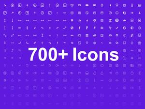 700 iconos Bosquejo Recurso
