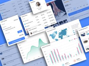 Dashboard UI Kit Sketch Resource