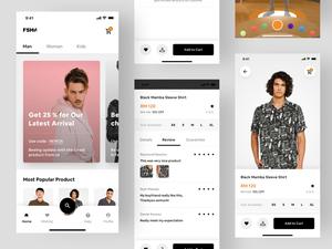 Fashion E-Commerce Mobile App Sketch Resource