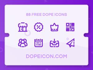 88 DopeiconsのSketchリソースをSketchします