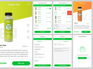 Drinks App with Checkout Sketch Resource