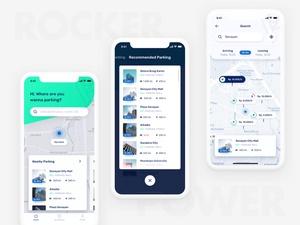 Easy Parking iOS UI Kit Sketch Resource