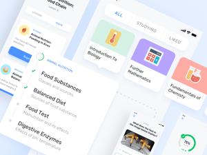 E-learning App UI Kit Sketch Resource