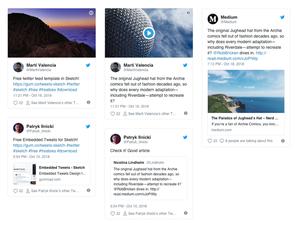 Embedded Tweets Template Sketch Resource