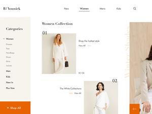 Fashion Landing Page Concept Sketch Resource