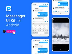 Android Facebook Messenger UI Kit Sketch Resource