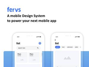 Fervs Design System Sketch Resource