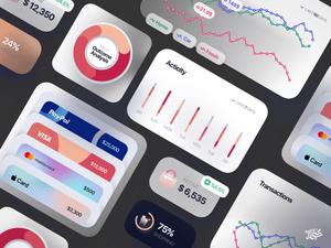 Finance UI Components Sketch Resource