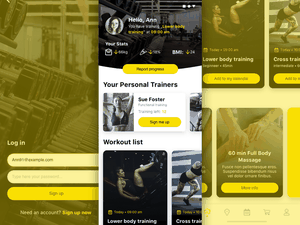 Simple Fitness App Concept Sketch Resource