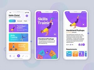 Fitness App Concept Sketch Resource