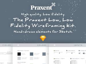 Low Fidelity Wireframing UI Kit – Praxent