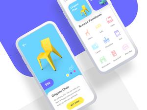 Furniture App Concept Sketch Resource