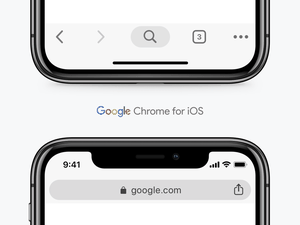 Google Chrome UI for iOS Sketch Resource