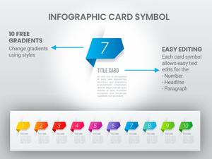 Símbolos de tarjeta de infografía de gradiente Símbolos de boceto
