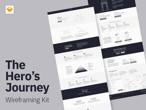 Hero Journey Wireframe Kit Sketch Resource