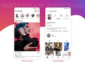 Instagram Redesign Sketch Resource