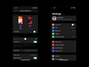 iOS 13 Dark Mode Settings Sketch Resource