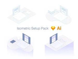 Isometric Setup Pack Sketch Resource