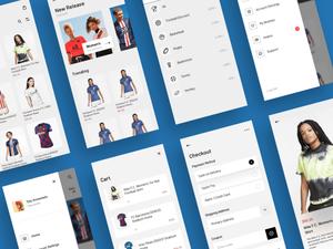 Jersey Shop UI Kit Sketch Resource