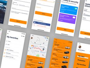 JUBER - Car Rental App Sketch Resource