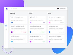 Kanban App Concept Sketch Resource