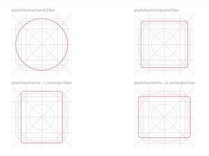 Keyline Shapes 24px Sketch Resource