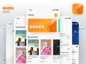 Listening Books UI Kit Sketch Resource