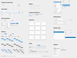 macOS UI Library Sketch Resource