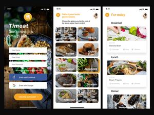 食事プランコンセプトアプリSketchリソース