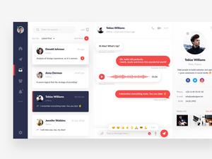 Messaging App Concept Sketch Resource