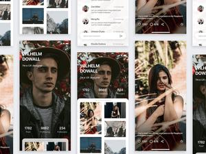 Minimal Instagram Concept Sketch Resource