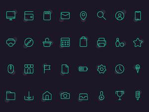 32 Basic Icon Set Sketch Resource