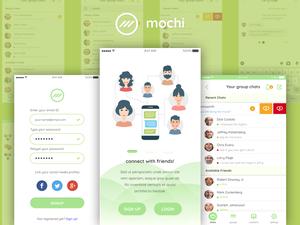 Mochi - Chat UI Kit Sketch Resource