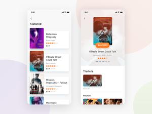 Movie App Concept Sketch Resource