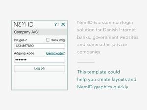 NemID Design Template Sketch Resource