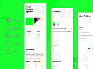Neon Design System Sketch Resource