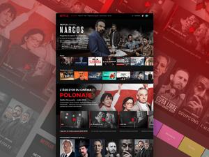 Netflix Desktop UI Sketch Resource