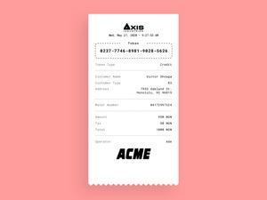 Payment Receipt Printout Template Sketch Resource