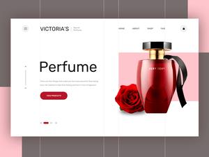 Perfume Landing Page Sketch Resource